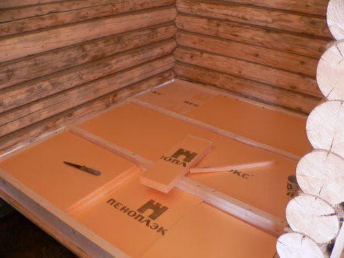 пенополистирол для деревянного дома