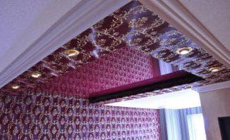 разные тканевые натяжные потолки