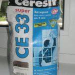 Затирка Церезит се 33 и ее технические характеристики
