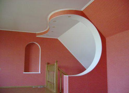 арочный потолочный гипсокартон