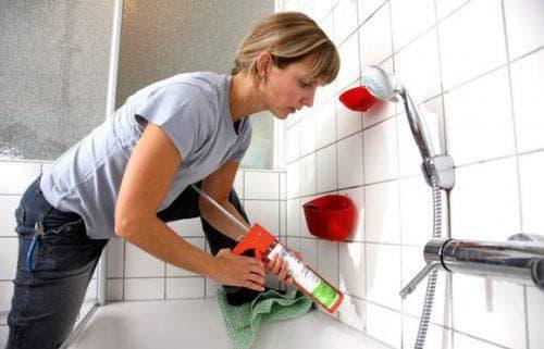 затирка для швов плитки в ванной Момент Гермент