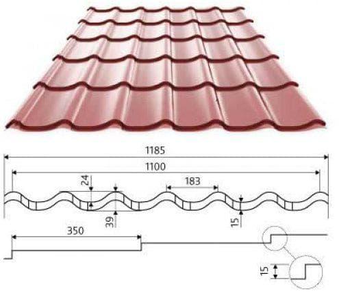 толщина листа металлочерепицы для крыши
