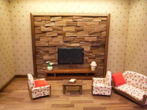 стеновые панели под камень из древесковолокна