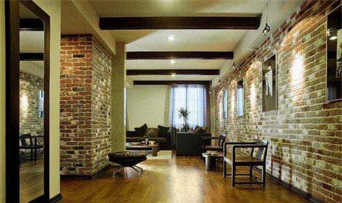 стеновые панели под камень в гостиной